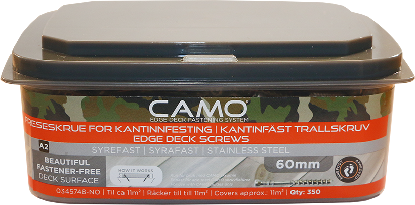 Camo Freseskrue A2 3x60 A350